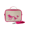 So Young Insulated Lunchbox -  Pink Birds