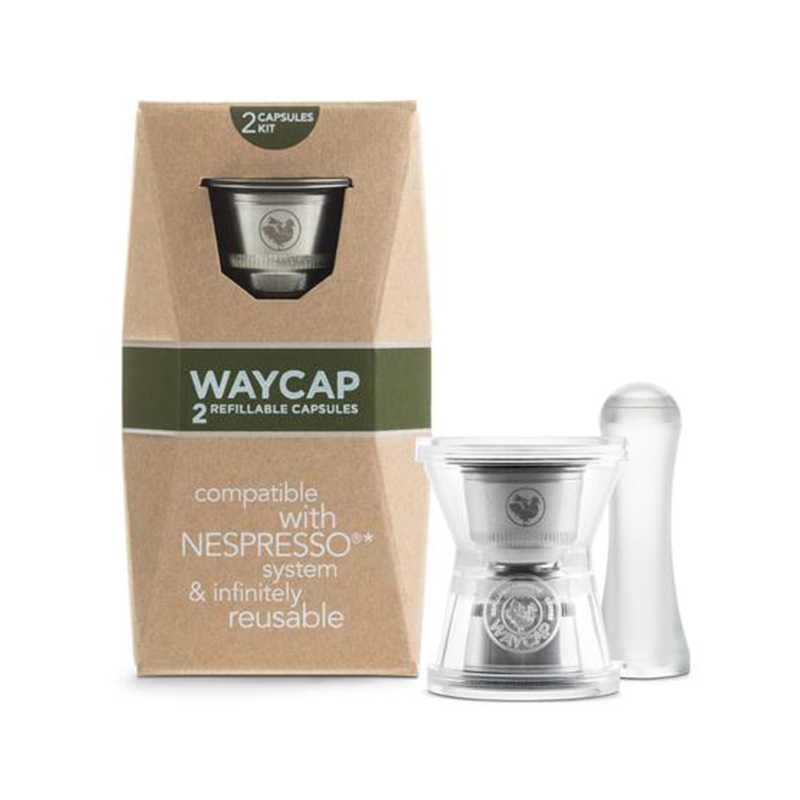 WayCap Stainless Steel Refillable Coffee Capsules EZ - 2 Pack