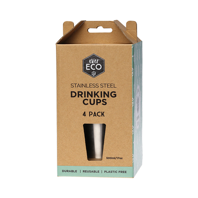 ever ECO Stainless Stainless Steel Drinking Cups - 4 Pack