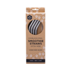 ever ECO Stainless Steel Smoothie Straws (Extra Wide) 4 Pack Bent