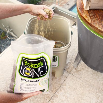 Bokashi One Single Bucket and Mix - White