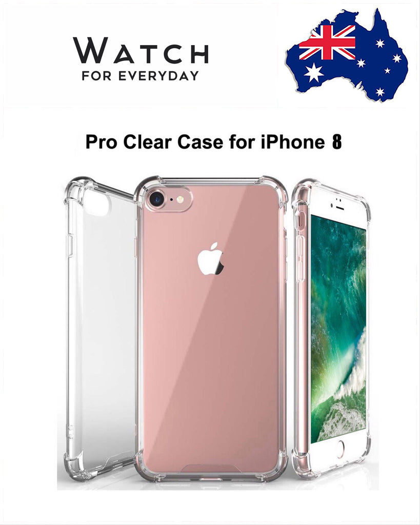Shockproof Tough iPhone 8 / 8 Plus Hard Gel Clear Case Cover