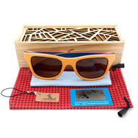Wood Sunglasses Retro Vintage Polarized Skateboard Wooden Glasses