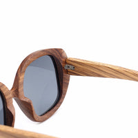 Vintage Zebra Wood Sunglasses Polarized UV400 Protect Coating Mirror Wood Sun Glasses