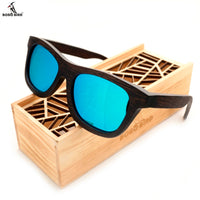 Wooden Bamboo Sunglasses Square Summer Style Luxulry Brand Design Polaroid Sun Glasses