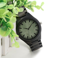 Green Wooden Watch Bamboo Wooden Watches for Men i