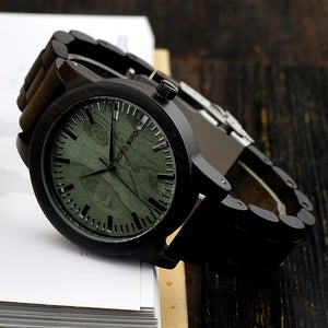 Wooden Men Watch Lightweight Vintage Wooden Watch