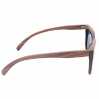 Black Walnut Wood Bamboo Polarized Sunglasses UV 400 Protection Eye wear