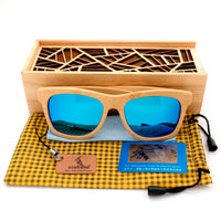 Wooden Bamboo Sunglasses Polarized UV400 Protection Wood Glasses Frames With Colorful Lens