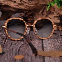 Polarized Sunglasses Fashion Wood Frame Retro Vintage Glasses Goggle UV400