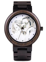 Photo Engraved Wooden Watch as Gift for Birthday Gift and For Lovers