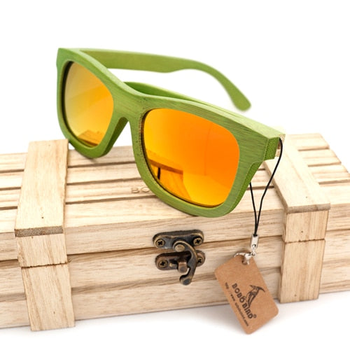 Fashion Summer Style Bamboo Wooden Sunglasses Polarized UV 400 Protection Eye wear