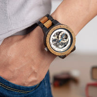Automatic Mechanical Watches Luxury Wooden Men Watch
