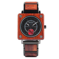 Wooden Men Square Watches Luxury Personalised Wood Watch Gifts for Men