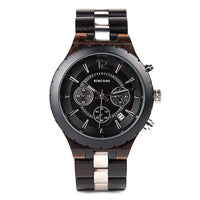 Men Wooden Luxury Stylish Timepieces Chronograph Military Watches