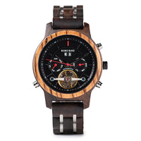 Automatic Skeleton Mechanical Watches Men Wooden Luxury Watch Self Wind