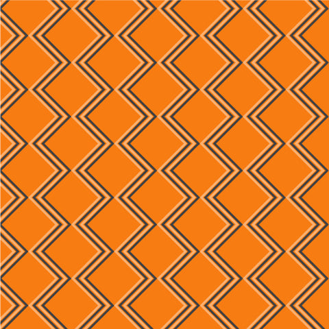 Halloween - Orange Zig-zag