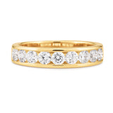 18ct Yellow Gold Channel Set Band