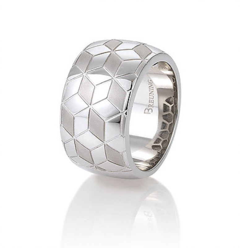 Sterling Silver Multi Pattern Ring