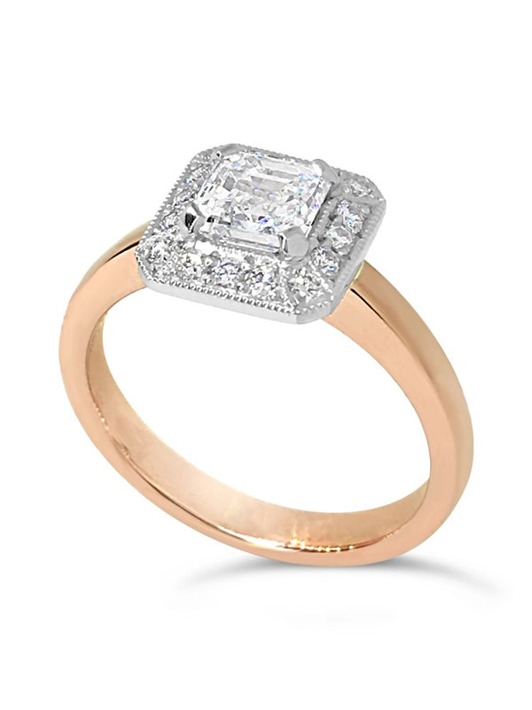 Ascher Cut Diamond Ring