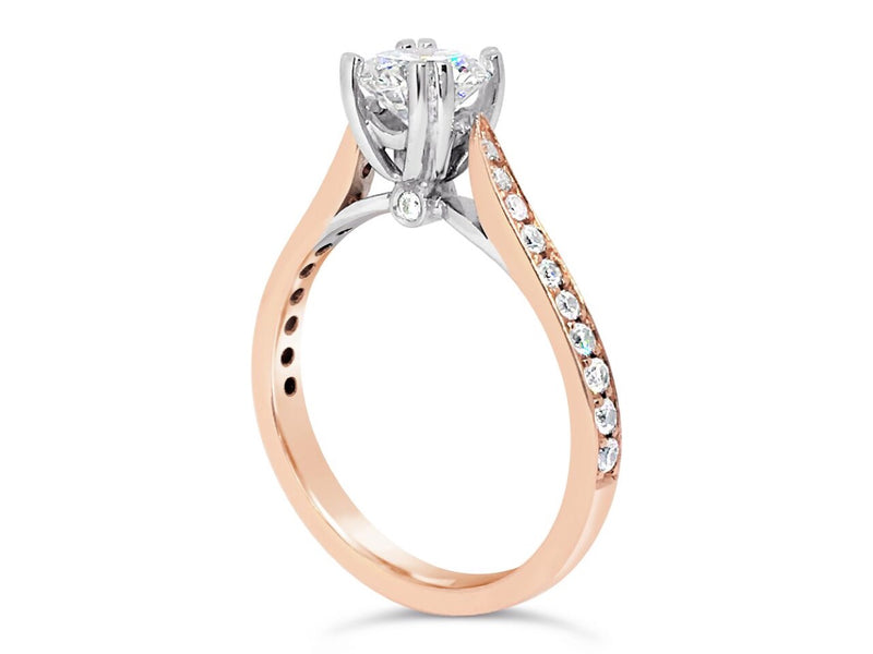 Diamond Ring With Diamond Shoulders