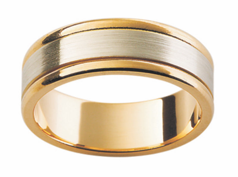 Yellow and White Gold Band F111-6MM
