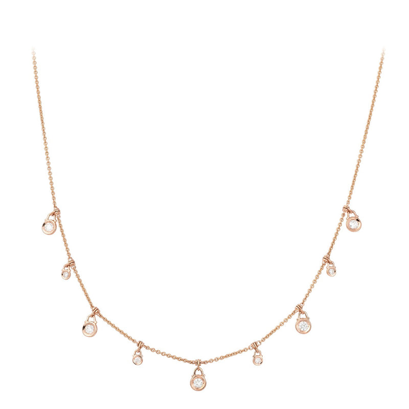18ct Rose Gold Diamond Necklace