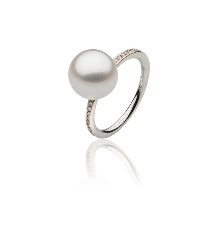 Pink Diamond and Pearl Dress Ring