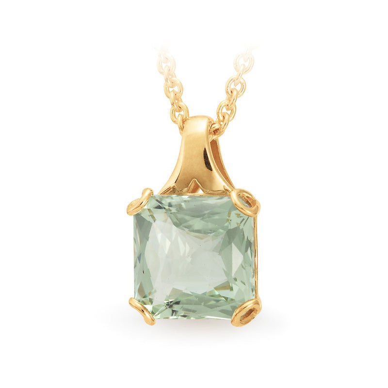 diamond beauty rose natural solid pendant detail gold amethyst product new cushion necklace green