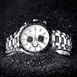 Luxury full stainless steel dress watch for men waterproof