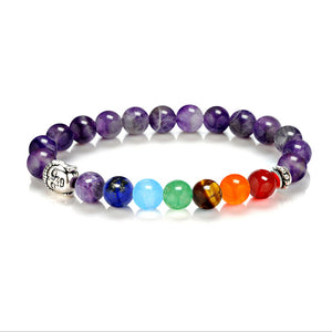 Buddha bracelet made of semi precious stones