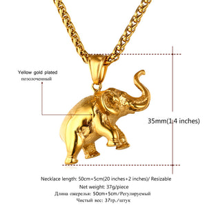 Elephant Necklace stainless steel 316L gold plated