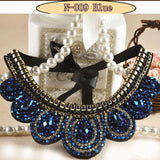 Collar Flower Power choker Necklace Women Maxi big bead fine Jewelry  (in many variations)