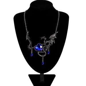 Vintage Necklace Jewelry Women Dragon Necklace