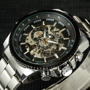 Luxury Skeleton Mechanical Watch Waterproof