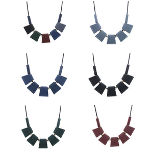 Women Necklace Statement Necklaces & Pendants Colorful Wood Beads