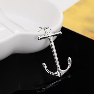 Anchors Necklace Pendant silver plated