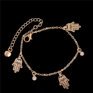 Anklet Or Bracelet For Woman gold plated many variation Hamsa Fand of Fatima Heart