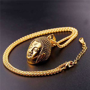Tathagata Sakyamuni Buddha Necklace For Men/Women Gold plated Stainless Steel