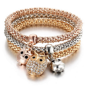 Top quality Owl Bracelets & Bangles 3 Color variation