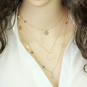 Multi Layer Leaf Chain Necklaces for Women