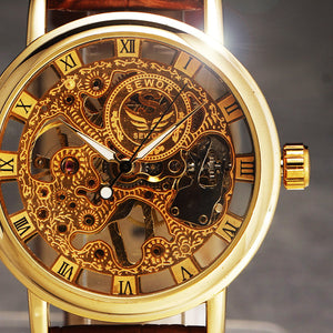 Skeleton Men's Watch Vintage Dress Luxury Ultra Thin