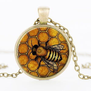 Bees Pendant Necklace