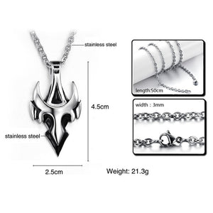 Arrow Men Pendant Necklace Stainless Steel