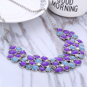 Multicolor Beads Power Necklace For Women