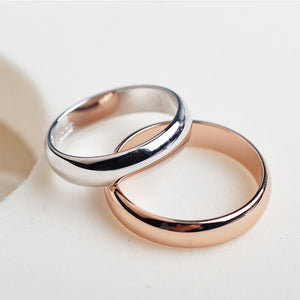 Ring Rose Gold Color Couples Ring for Man or Woman