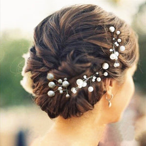 6 Pieces Women Wedding Hair Accessories Bridal Bridesmaid Hair Accessories Pearl Headpiece