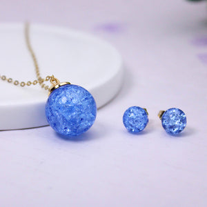 Jewelry Set  stud earrings pendant necklace for women