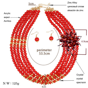Nigerian wedding bridal jewelry set  8 colors available