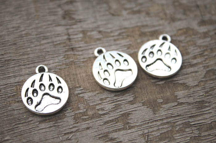 20pcs Bear Claw Charms